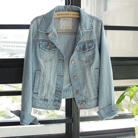 light denim jacket womens free ship euro fashion classic casual long sleeve dark