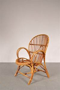 Fauteuil Rotin Design : fauteuil lounge en rotin 1950 design market ~ Nature-et-papiers.com Idées de Décoration