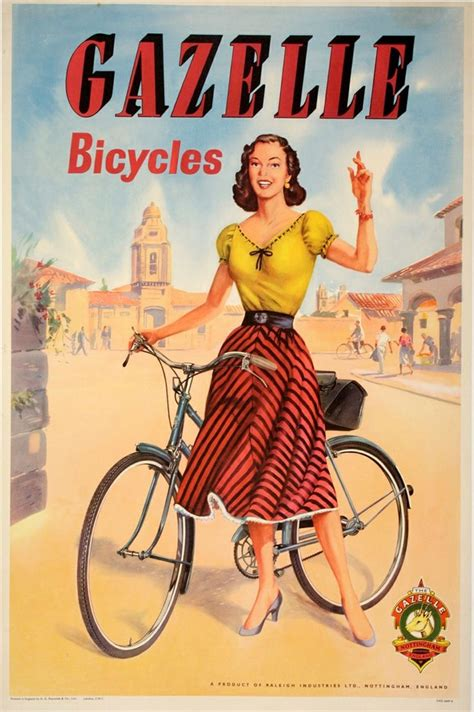 Old Fashion Bicycle Woman Bike Ride Vintage Retro Kraft Poster Decorative Diy Wall Canvas