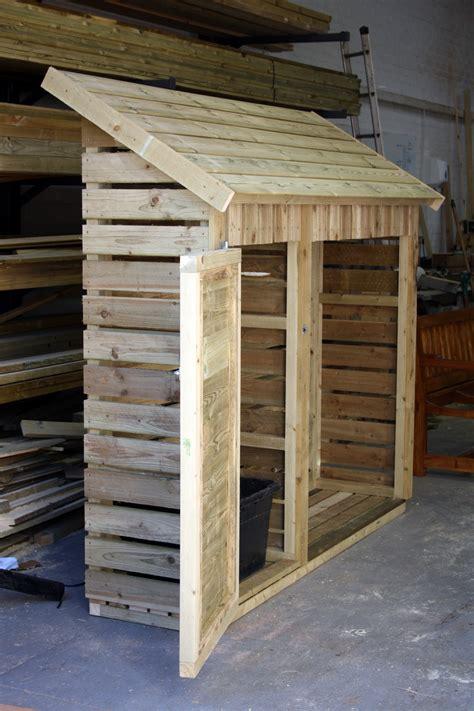 Wheeled Kitchen Island - slimline log store the wooden workshop oakford