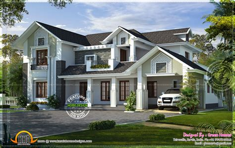 style homes style house rendering kerala home design and