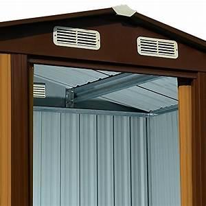 Fundament Für Gerätehaus : ger tehaus metall 210x132x186cm verzinkt gartenhaus ~ Lizthompson.info Haus und Dekorationen