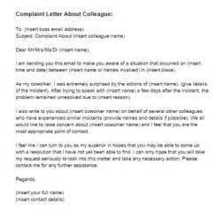 plaint letter about coworker sample