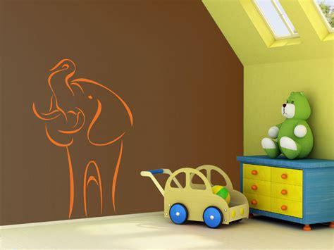 Wandtattoo Süßer Elefant  Kinderzimmer Wandtattoosde