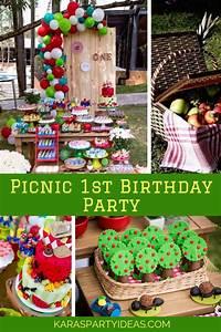 Kara 39 S Party Ideas Picnic 1st Birthday Party Kara 39 S