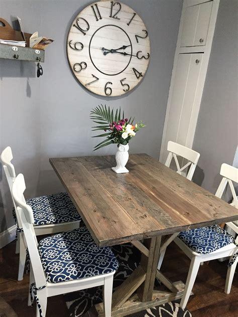beachy kitchen table buy a made rustic beachy farmhouse trestle dining