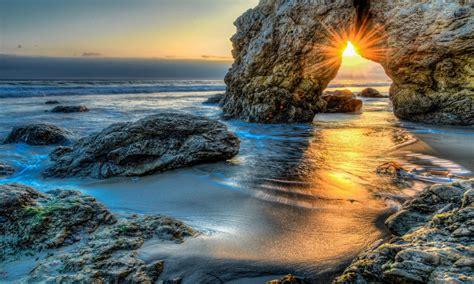 sea rock sunset wallpaper hd  wallpaperscom