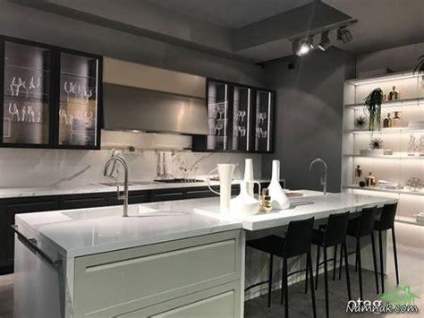 modern glass kitchen cabinets جدیدترین مدلهای میز ناهارخوری اپن آشپزخانه تصاویر 7623