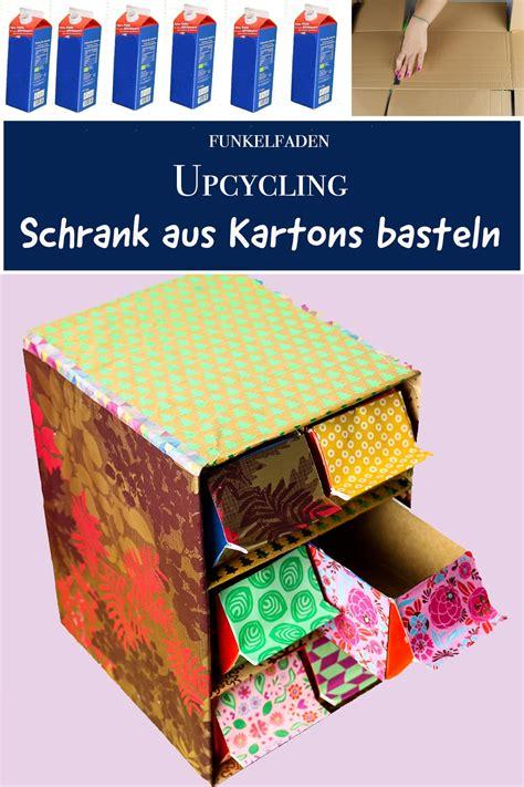 upcycling schrank aus milchkartons und pappe basteln