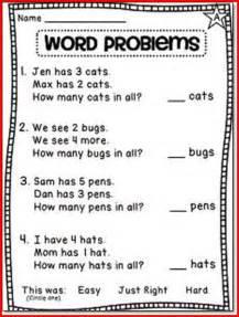 1st Grade Math Word Problem Worksheets