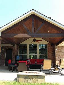 Covered Patio/A-Frame/Stained Cedar Beams Pools by