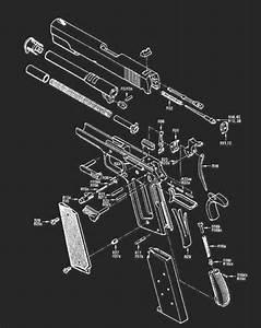 Exploded 1911 From Harold Murtz U0026 39 S  U0026quot The Gun Digest Book Of