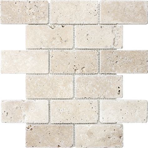 shop chiaro tumbled mosaic subway wall tile