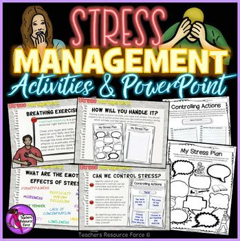 stress management activities  powerpoint  teens tpt