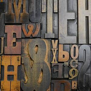 vintage letterpress printers blocks large by home glory With printing letters on wood