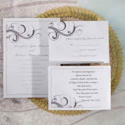 simple wedding invitations simple white and grey inexpensive printable wedding invites ewi065 as low as 0 94
