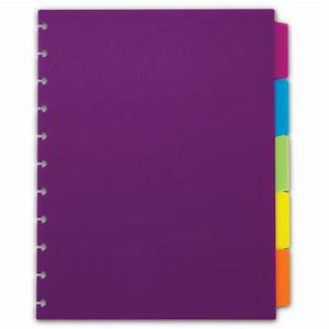 Circa vivacious tab dividers colorful notebook dividers for Notebook with letter tabs