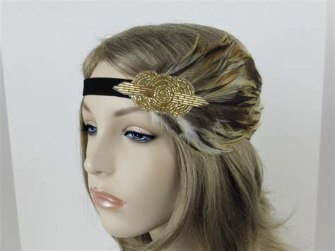 Gold Flapper Headpiece, 1920s Hair Accessories, Great