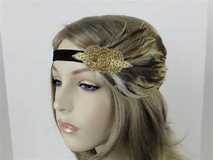 Gold Flapper Headpiece, 1920s Hair Accessories, Great ...