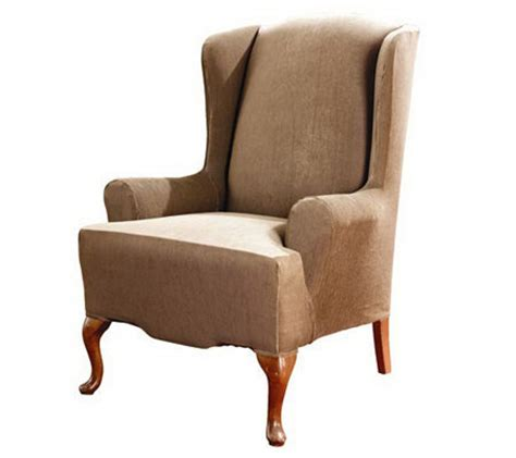t cushion chair slipcover sure fit stretch stripe t cushion wing chair slipcover