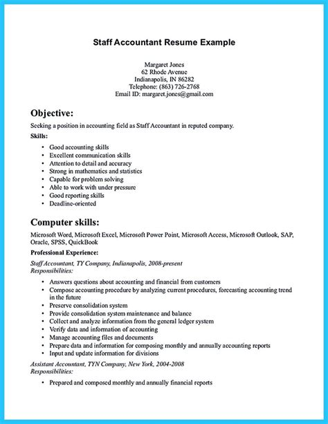 Resume For by Sle For Writing An Accounting Resume Resume