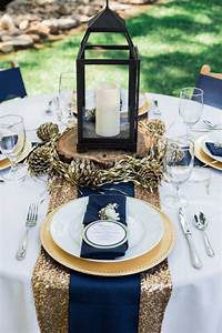 Picture Of a gorgeous place setting with a gold sequin