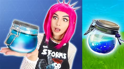 fortnite items  real life challenge youtube