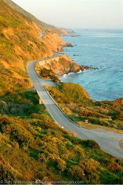 Highway Pacific Coast California Peaceful Looks Wildnatureimages