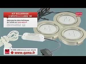 spot a leds kit 3 spots encastrables a 3 leds de 1 watts With four de cuisine encastrable