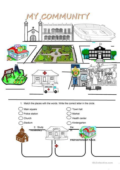 community worksheet  esl printable worksheets