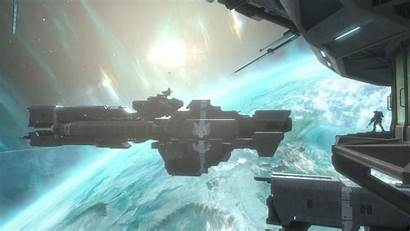 Reach Halo Station Space Orbit Wallpapers Games