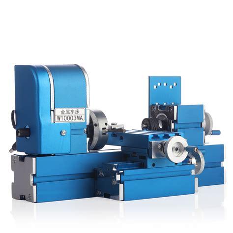 mini metal lathe machine cnc diy tool benchtop wood lathe