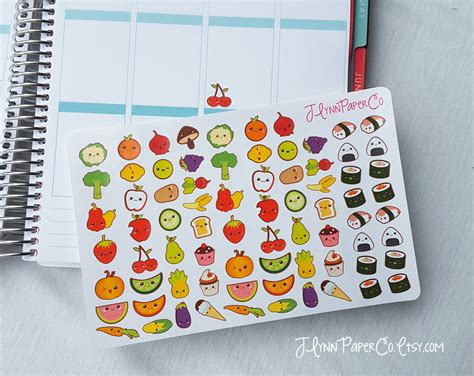 cuisine stickers 75 kawaii food stickers kawaii stickers food stickers