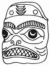 Mask Halloween Scary Coloring Mouth Pages Drawing Mayan Masks Template Printable Templates Unicorn Sketch Getdrawings sketch template