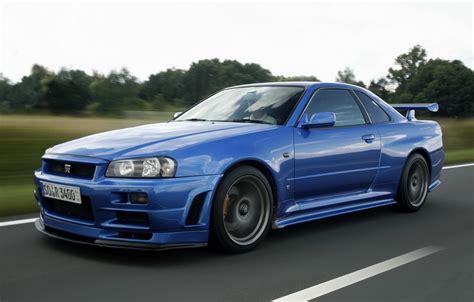 Gtr V Spec Wallpaper by Wallpaper Road Blue Nissan Sports Car Skyline Nissan