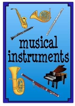 musical instrument flash cards     learn tpt