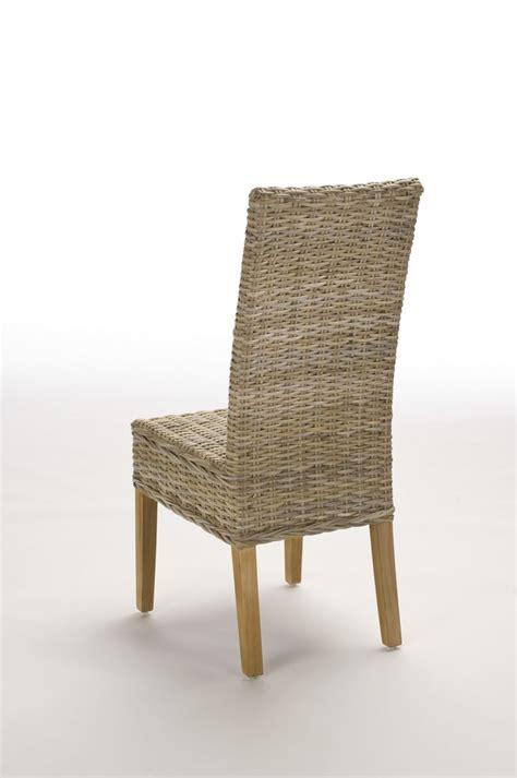 chaise en rotin gris chaise en rotin gris tressé kubu brin d 39 ouest