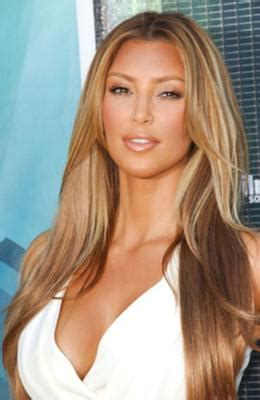 Kim Kardashian Blond Highlight - What Color Tech