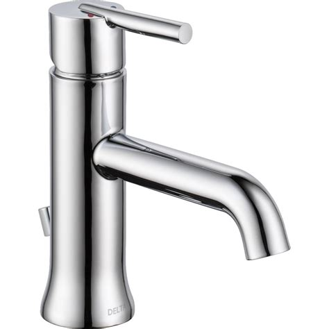 delta trinsic bathroom faucet chagne bronze delta faucet 559lf mpu trinsic polished chrome one handle