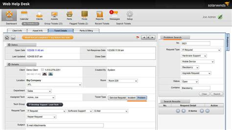 solarwinds web help desk reports incident management software solarwinds