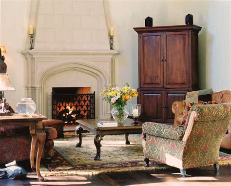 Decorating Ideas Next To Fireplace by Glamorous Corner Armoire In Living Room Traditional With