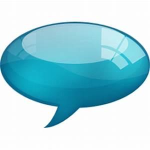 Speech Bubble Blue Icon - Speech Bubbles Icons - SoftIcons.com