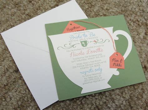 bridal shower tea bridal shower tea party invitations theruntime com
