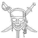 Pirates Caribbean Coloring Pages Printable Children sketch template