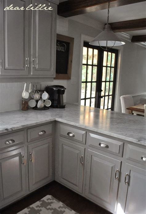 paint colors to go with gray cabinets dear lillie darker gray cabinets and our marble review