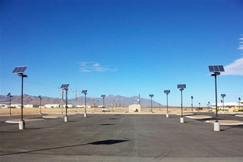 solar outdoor parking lot lighting for us facility
