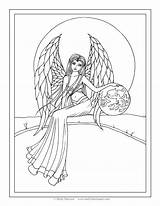 Coloring Angel Pages Molly Guardian Adult Harrison Fantasy Printable Angels Snow Drawing Books Garden Fairy Fairies Print Getdrawings Getcolorings Line sketch template