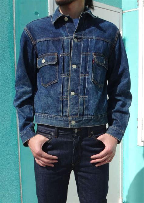 vintage levis xx  leather patch denim jacket
