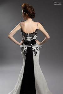 30 black and white wedding dresses combination fashion fuz With black lace wedding dresses