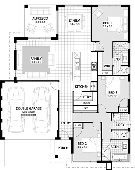 3 bedroom home plans 3 bedroom house plans on 3 bedroom house plans
